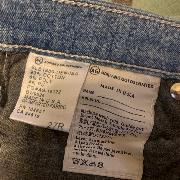 "Ag Adriano Goldschmied Denim - Adriano Goldschmied ""Liberty"" jeans 27R"